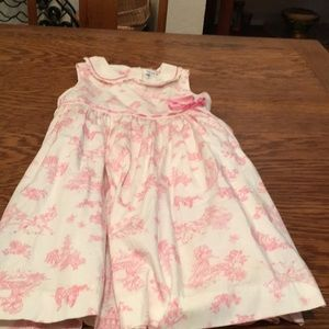 Girl's princess patterned dress, size 6